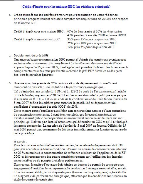 avantages fiscaux (suite)